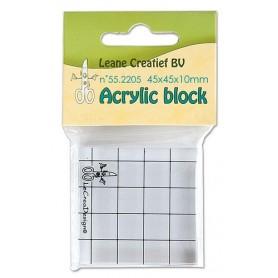 LeCrea - Acrylic Silikon Stempel Block  45x45x10mm