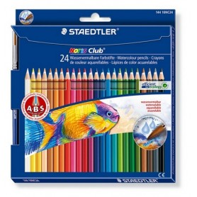 Staedtler Noris Club aquarell - set 24 tlg. + Pinsel