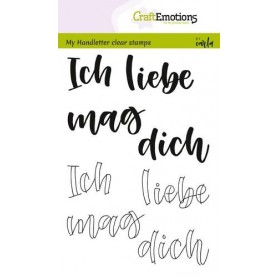 CraftEmotions clearstamps A6 - handletter - Ich liebe dich