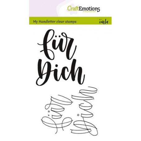 CraftEmotions clearstamps A6 - handletter - für Dich
