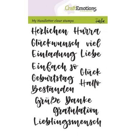 CraftEmotions clearstamps A6 - handletter - Verschiedene Wörter