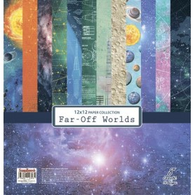 "Paper Collection Set 12""*12"" Far-Off Worlds 190g"