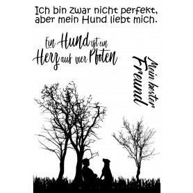 """Memories4you Stempel (A6)  """"Tiere 004 Hund"""""""