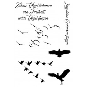 "Memories4you Stempel (A6)  ""Tiere 002  Vögel"""