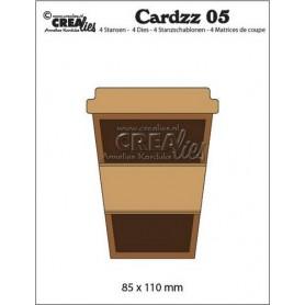 Crealies Cardzz no 5 Becher zum Mitnehmen  85x110mm