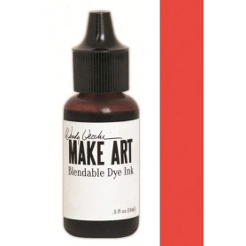 Ranger MAKE ART Dye Ink Pad Reinkers Poppy 4 Wendy Vecchi 15ml