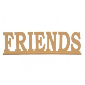 Wooden lettering * FRIENDS * on stand 35x4x10.5сm