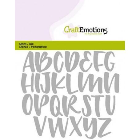 CraftEmotions Die - Alphabet handlettering Großbuchstaben Card 11x9cm