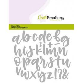 CraftEmotions Die - Alphabet Handlettering Kleinbuchstaben Card 11x9cm