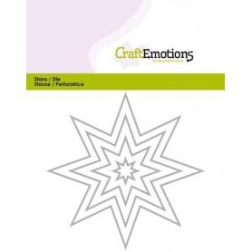 CraftEmotions Die - Borten 8 spitzen Stern Card 11x14cm