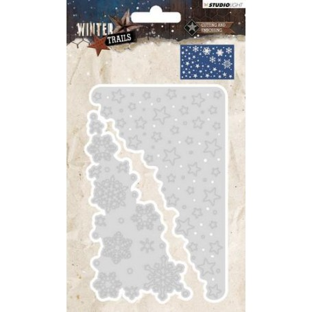 Studio Light Embossing Die Cut Stencil Winter Trails nr 105 STENCILWT105 137 x 89 mm