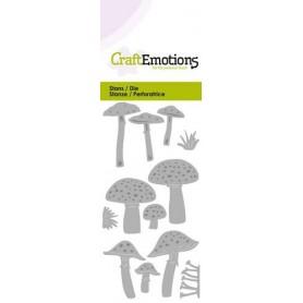 CraftEmotions Die - verschiedene Pilze Card 5x10cm