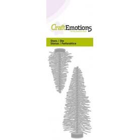 CraftEmotions Die - trendige Dekoration Weihnachtsbäume Card 5x10cm