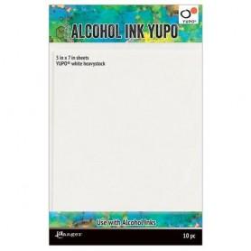 Ranger Alcohol Ink Yupo Paperc White 144 Lbs 5x7 10 Bg TAC63339