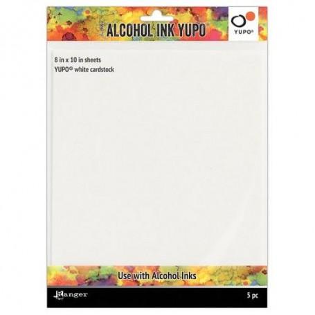 Ranger Alcohol Ink Yupo Paper White 86 Lbs.8x10- White 5 Bg