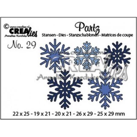 Crealies Partz no. 29 5x Schneeflocken CLPartz29 19 x 21 - 26 x 29
