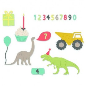 Sizzix Thinlits Die set - 15PK Birthday Boy Sizzix