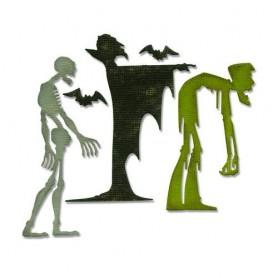 Sizzix Thinlits Die set - Ghoulish 4PK  Tim Holtz