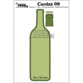 Crealies Cardzz no 09 Flasche Wein CLCZ09 56x195mm