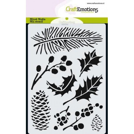 CraftEmotions Mask stencil xmas florals A6
