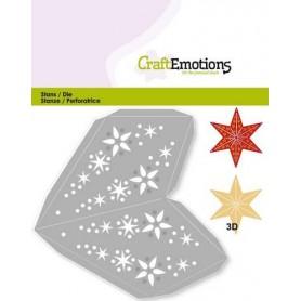 CraftEmotions Die - Weihnachtsdekoration Stern 3D 15.5 cm