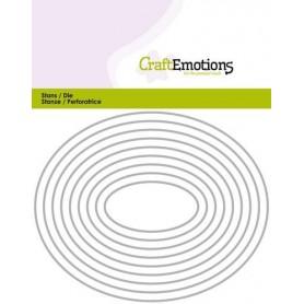 CraftEmotions Die - Borten oval Card 11x14cm