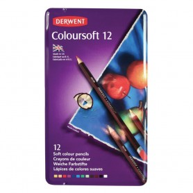 Derwent Coloursoft 12 st Tin