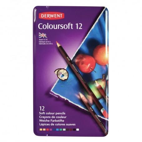Derwent Coloursoft 12 st Tin