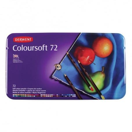 Derwent Coloursoft 72 st Tin