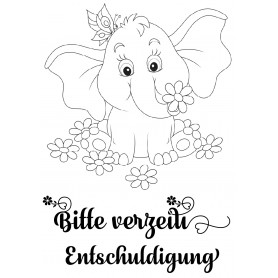 Memories4you Stempel A7 Tiere - 005 Elefant