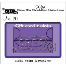 Crealies X-tra no. 20 Geschenkkarte mit Schiebesystem CLXtra20 19x59 - 54x86 mm