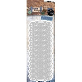 Studio Light Embossing Die 57x147mm, Denim Saturdays nr 139