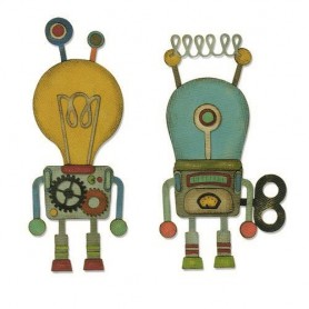 Sizzix Thinlits Die Set - 14PK Robotic  Tim Holtz