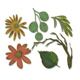 Sizzix Thinlits Die Set - 6PK Funky Floral Large  Tim Holtz