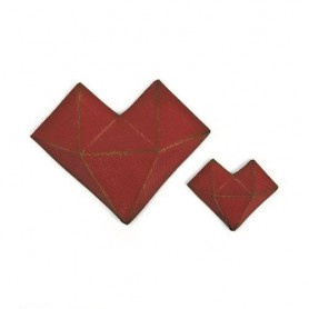 Sizzix Thinlits Die Set - 2PK Faceted Heart  Tim Holtz