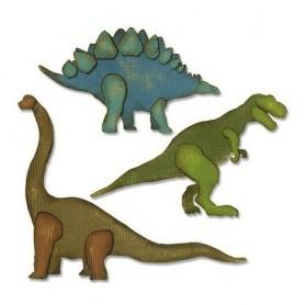 Sizzix Thinlits Die Set - 3PK Prehistoric Tim Holtz