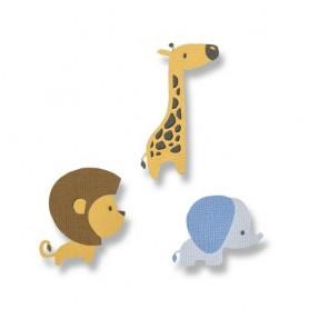 Sizzix Thinlits Die Set - 9PK Baby Jungle Animals  Jordan Caderao