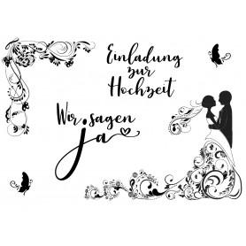 """Memories4you Stempel (A6)  """"Hochzeit - 001"""""""