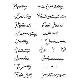 """Memories4you Stempel (A6)  """"Wochentage 001"""""""