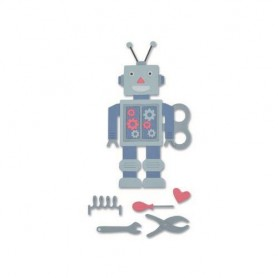 Sizzix Thinlits Die Set - 11PK 50`s Robot Georgie Evans