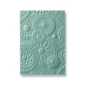 Sizzix 3-D Textured Impressions Embossing Folder Mosaic Gems 663206 Courtney Chilson