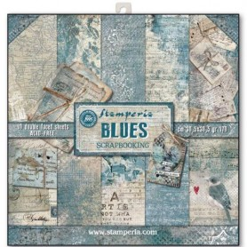 Pack 10 sheets double face 30,5x30,5 - Blues