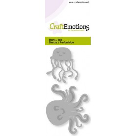 CraftEmotions Die - Quallen Card 5x10cm
