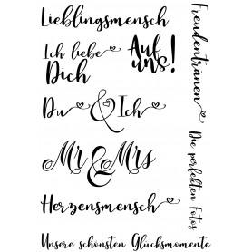 """Memories4you Stempel (A6)  """"Hochzeit Text"""""""