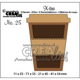 CrealiesX-tra no. 25 Mug to go small 11x55 - 71x55 mm