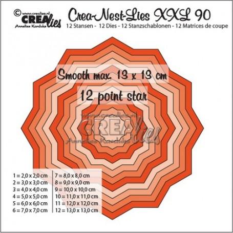 Crealies Crea-Nest-Lies XXL no 90 glatter 12 spitz Stern 13x13 cm