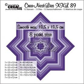 Crealies Crea-Nest-Lies XXL no 89 glatter 8 spitz Stern  13,5x13,5 cm