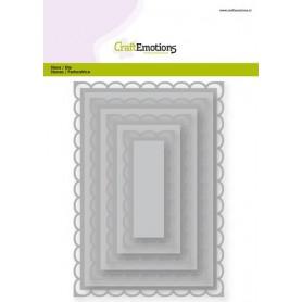 CraftEmotions Big Nesting Die - Rechtecke mit offene scalop XL Card 150x160 6,8-15,0cm