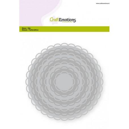 CraftEmotions Big Nesting Die - Kreise mit offene scalop XL Card 150x160 3,6-13,0cm