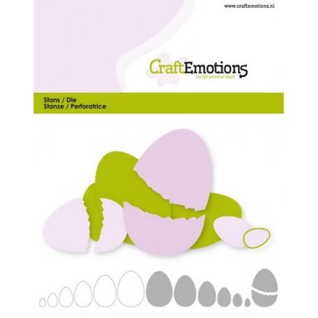 CraftEmotions Die - Borten Ei Card 11x9cm - 2,6-10,6cm